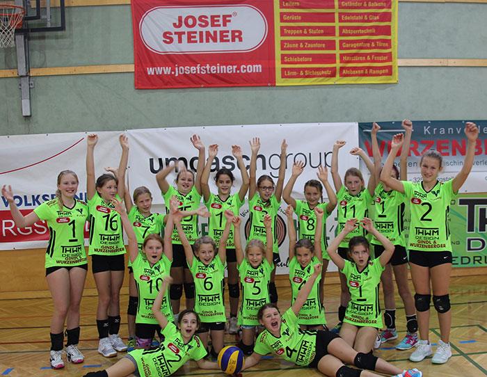 U13 Volleyball Team des ASKÖ Volksbank Purgstall in der Saison 2019/20