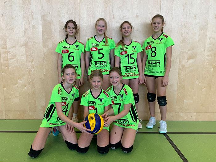 U14 Volleyball-Team des ASKÖ Volksbank Purgstall in der Saison 2019/20
