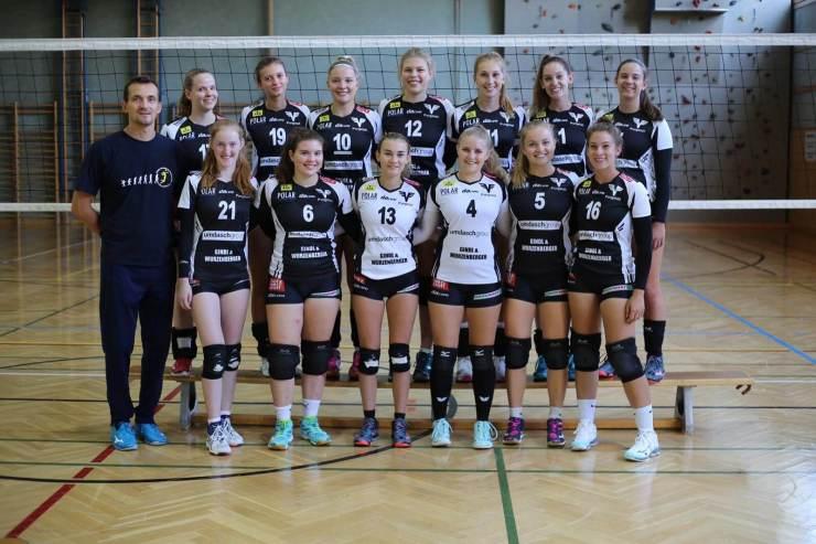 Teamfoto 2. Bundesliga Damen Volleyball ASKÖ Purgstall 2020-21